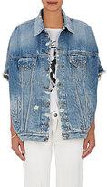 R 13 Women's Distressed Denim Drop-Shoulder Vest