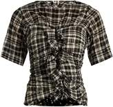 Etoile Isabel Marant Walt checked ruffled top