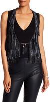 Doma Genuine Leather Fringe Vest