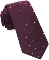 The Tie Bar Wine Dotted Report Tie