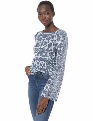 Lucky Brand Women's Damask Pullover Sweater