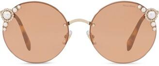 Miu Miu Maniere round-frame sunglasses