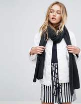 Asos Fine Knit Long Wool Mix Scarf