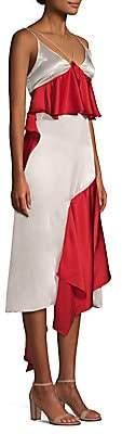 Each X Other Women's Silk Ruffle Slip Dress