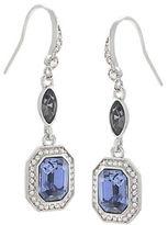 Carolee Silvertone Blue Crystal Drop Earrings