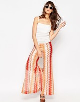 Asos Jumpsuit with Wide Leg in Chevron Pattern