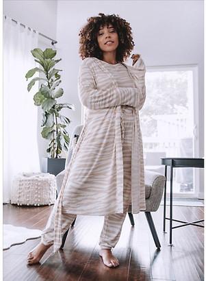 LOFT Marled Zebra Print Robe