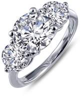Lafonn Classic Sterling Silver Platinum Plated Lassire Simulated Diamond Ring (2.99 CTTW)
