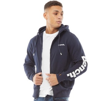 Bench Mens Broadway Sleeve Print ZT Hoodie Navy