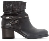 Mjus Shaggy Leather Ankle Boots