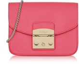 Furla Rose Leather Metropolis Mini Crossbody Bag