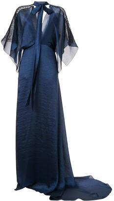 Roland Mouret Weston wave textured gown