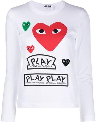Comme des Garcons long-sleeved multi-logo T-shirt