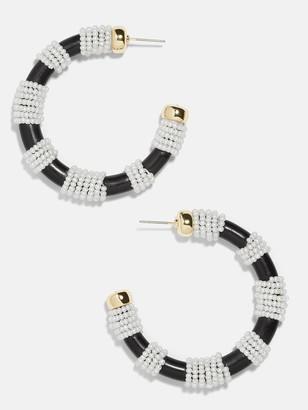 BaubleBar Anielia Hoop Earrings-Black/White