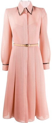 Fendi mesh pleated dress