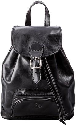 Maxwell Scott Bags Maxwell Scott Womens Full Grain Leather Backpack - Sparano Black
