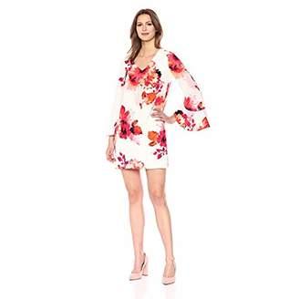 Calvin Klein Women's Short Sleeve Floral Lace Sheath Dress