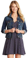 Aeropostale Womens Seriously Stretchy Medium Wash Denim Jacket Blue