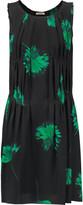 Nina Ricci Pleated floral-print silk dress