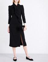 Gucci Ruffled wool midi dress