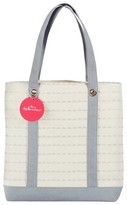 Kate Aspen Silver Scallop Canvas Tote Bag