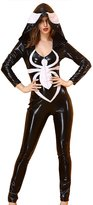 EkarLam® Halloween Catsuit 3D Spider Bodysuit Costume Romper Jumpsuit