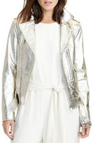 Lauren Ralph Lauren Metallic Leather Jacket