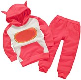 Astage Little Kids' Long Sleeve Cartoon Batman Hoodies Sport Clothing 4 Years