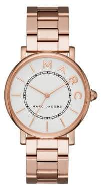 Marc Jacobs Classic Rose Goldtone Stainless Steel Three-Hand Bracelet Watch