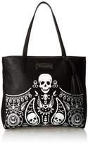 Loungefly Embossed Bandana Tote Tassels Shoulder Bag,