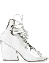Marsèll lace-up block heel sandals - women - Leather/Bos Taurus - 37