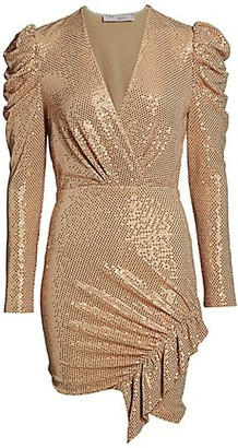 IRO Loulou Metallic Wrap Dress