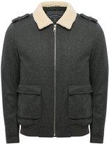 M&Co Wool blend bomber jacket