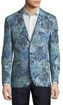 Tallia Orange Slim-Fit Floral Blazer Jacket