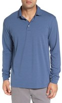 Peter Millar Men's 'Mitchell' Stripe Stretch Jersey Long Sleeve Polo