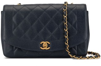 Chanel Pre Owned Diana Quilted Chain Shoulder Bag