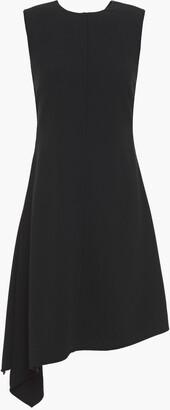 Victoria Beckham Asymmetric Wrap-effect Crepe Dress