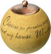 Comfort Candles Serve the Lord by Pavilion 4-Inch Round Candle Holder Includes Tea Light Candle
