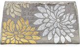 Nancy Gonzalez Floral Crocodile Slicer Clutch Bag, Anthracite/Multi