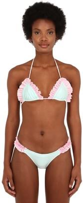 Just Sauced Lula Ruffled Bikini Top