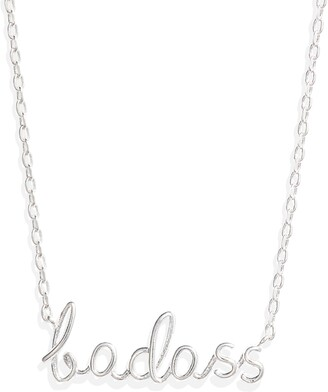Estella Bartlett Badass Silvertone Pendant Necklace