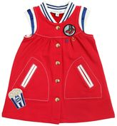 Little Marc Jacobs Embroidered Cotton Bomber Style Dress