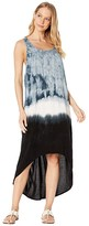 Hard Tail Hi-Low Tank Dress (Crystal Dip-Dye # 1) Women's Dress