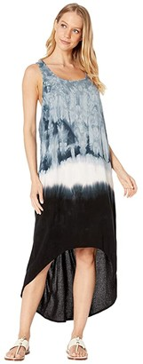 Hard Tail Hi-Low Tank Dress (Crystal Dip-Dye # 1) Women's Dress