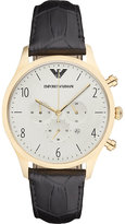 Emporio Armani Ar1892 Gold-plated And Leather Watch