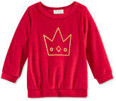 First Impressions Baby Girls' Velour Crown Top, Only at Macy's