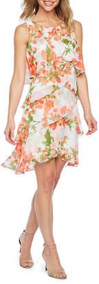 Coral Chiffon Dress Shopstyle