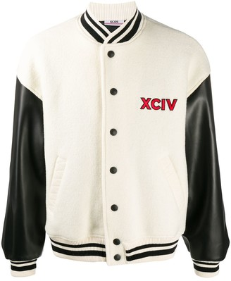 GCDS Contrast Sleeve Baseball Jacket