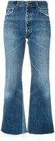 RE/DONE cropped kick flare jeans - women - Cotton - 26