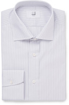 Dunhill Grey Slim-fit Striped Cotton Shirt